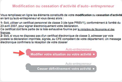 Modification ou cessation d'activité auto entrepreneur et micro entrepreneur