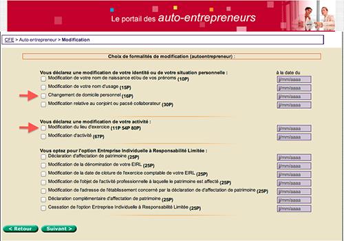 Changement d'adresse auto entrepreneur et micro entrepreneur